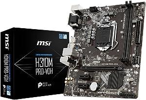 MSI Pro Series Intel Coffee Lake H310 LGA 1151 DDR4 Onboard Graphics Micro ATX Motherboard (H310M PRO-VDH)