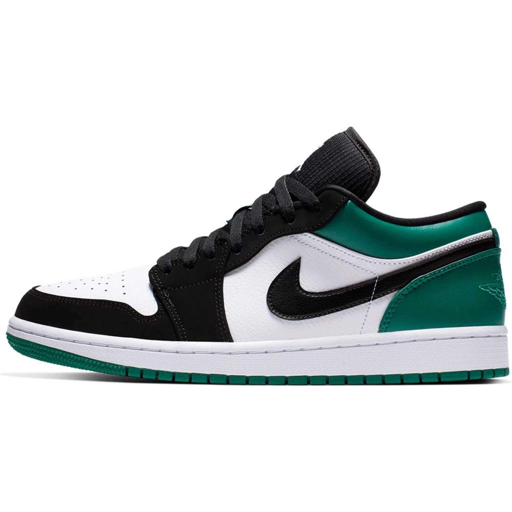 Air 1 Low (White/Black-Mystic Green 13