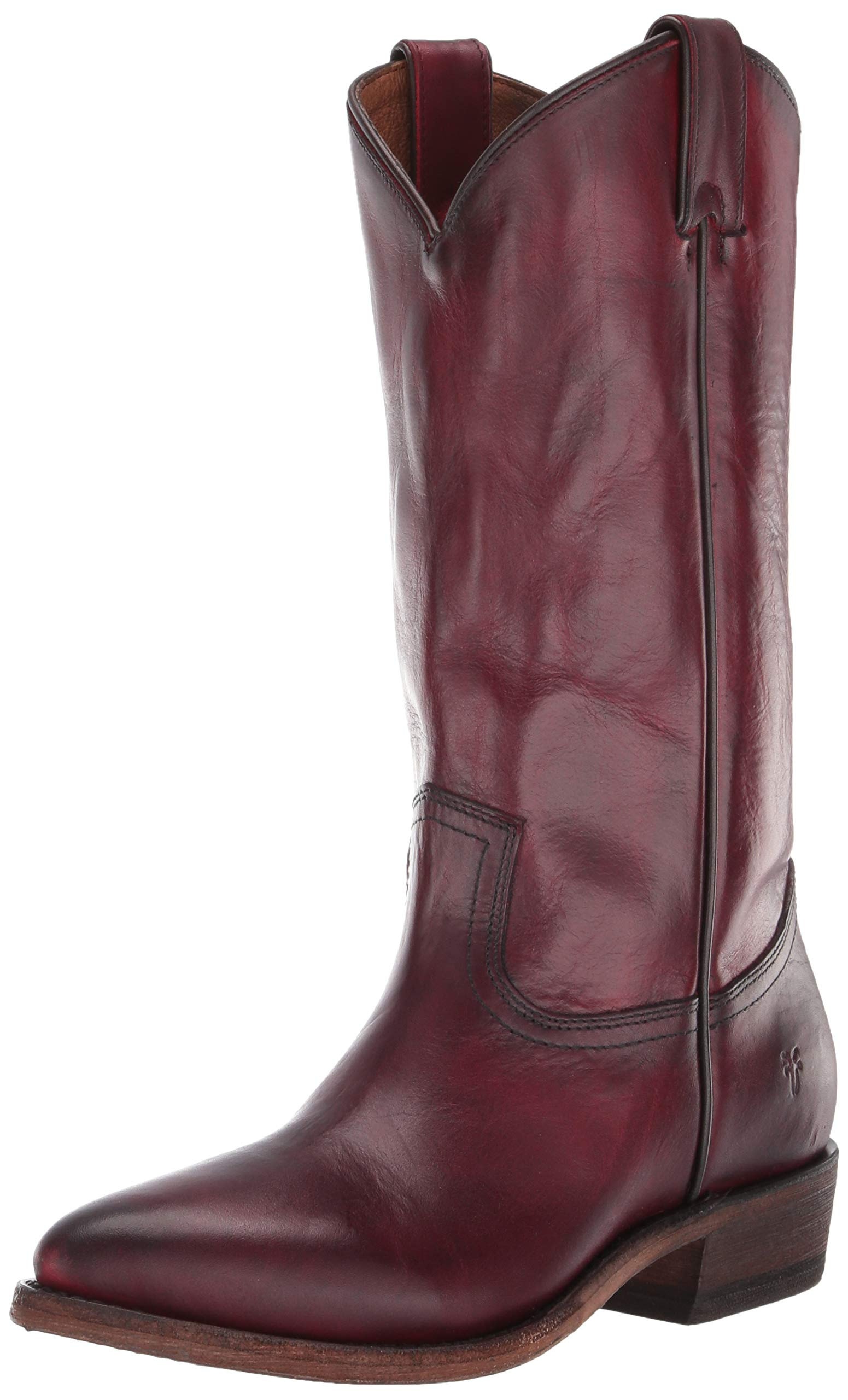 FRYE Women's Billy Pull On Western Boot, Red, 8 M US by FRYE