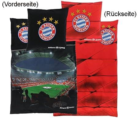 Fc Bayern München Bettwäsche Allianz Arena 135x200cm Amazonde