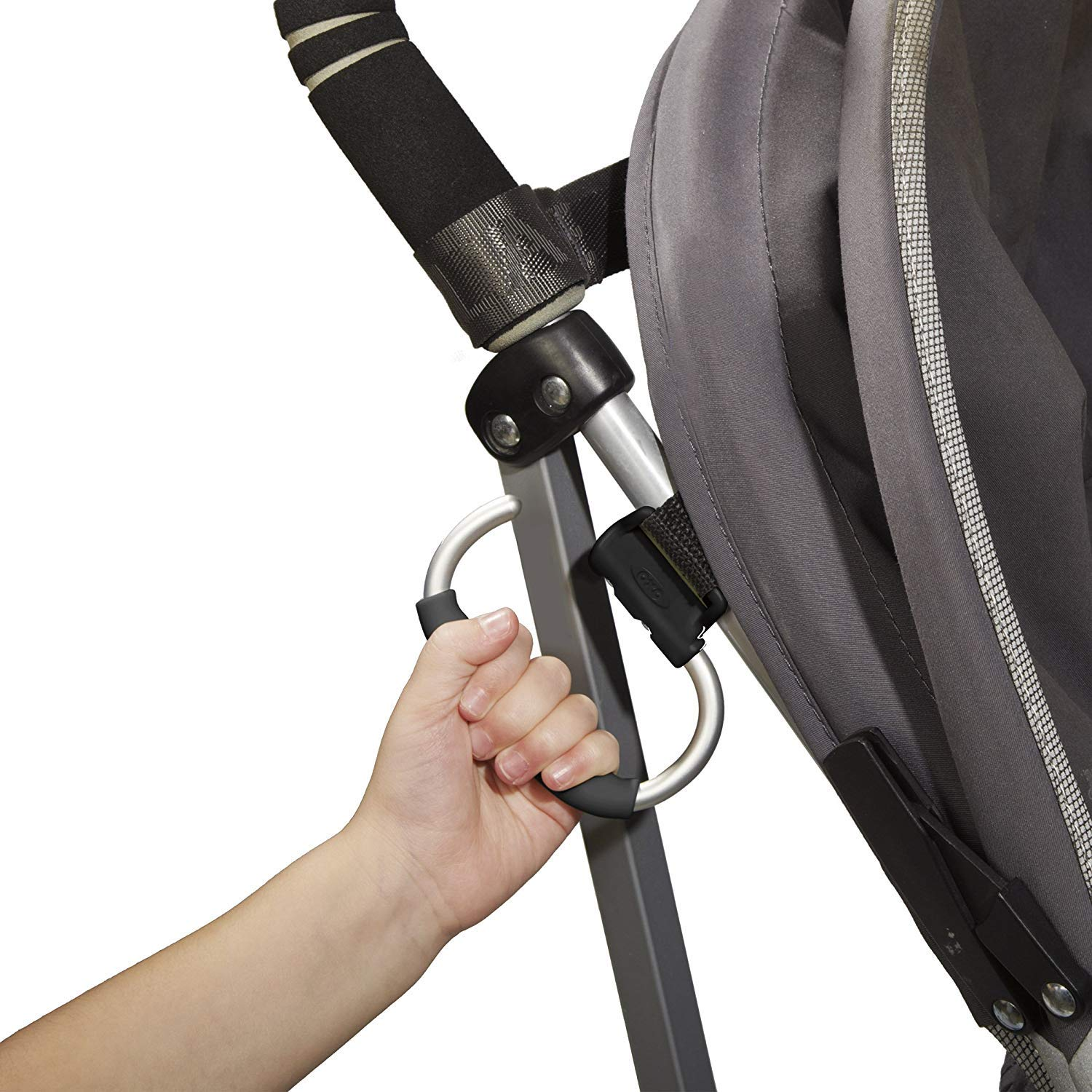OXO Tot Handy Stroller Hook, Grey (4 Pack) by OXO (Image #3)