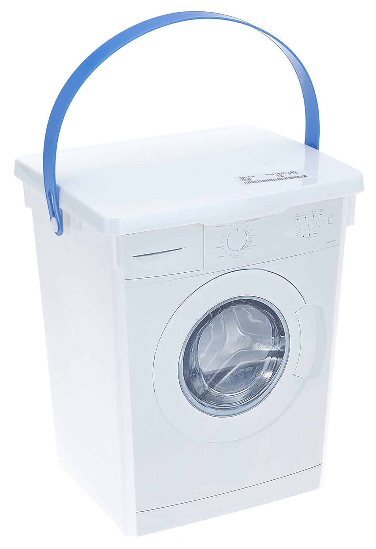 Scatola di Detersivo in polvere per lavatrice + gratis 1 panno in mircrofibra 35 x 30 cm, contenitore in plastica da 5 l per detersivo per bucato allaroundprofi24