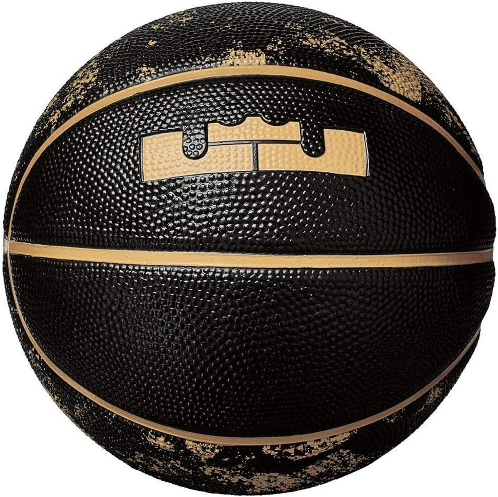 Nike Lebron Skills Mini Baloncesto Unisex, 044 Black/Elemtal Gold ...