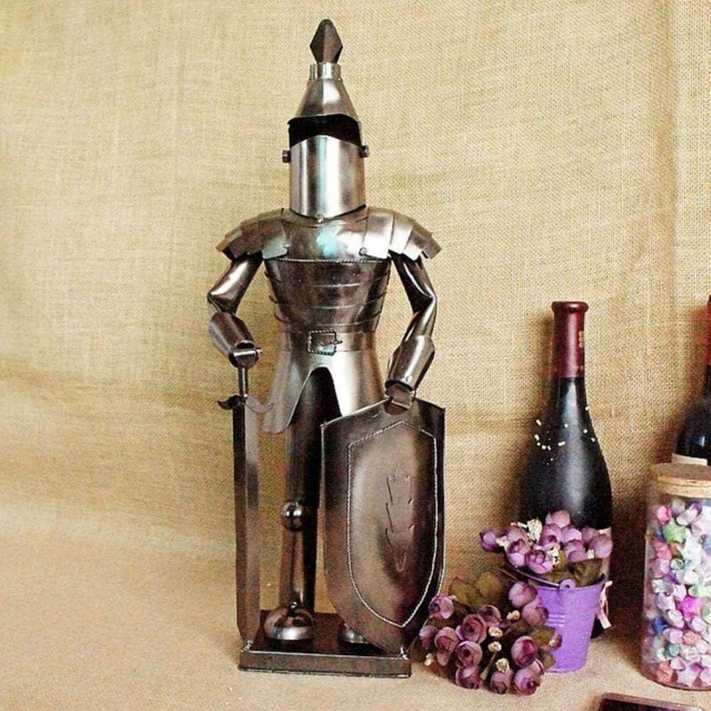 YAOJII Figura de Armadura de Guerrero Retro Figura artesanía de Metal Modelo de Soldado Vintage Adornos de Escultura Decoración de artesanía de Oficina de Hierro, como se Muestra en la Imagen