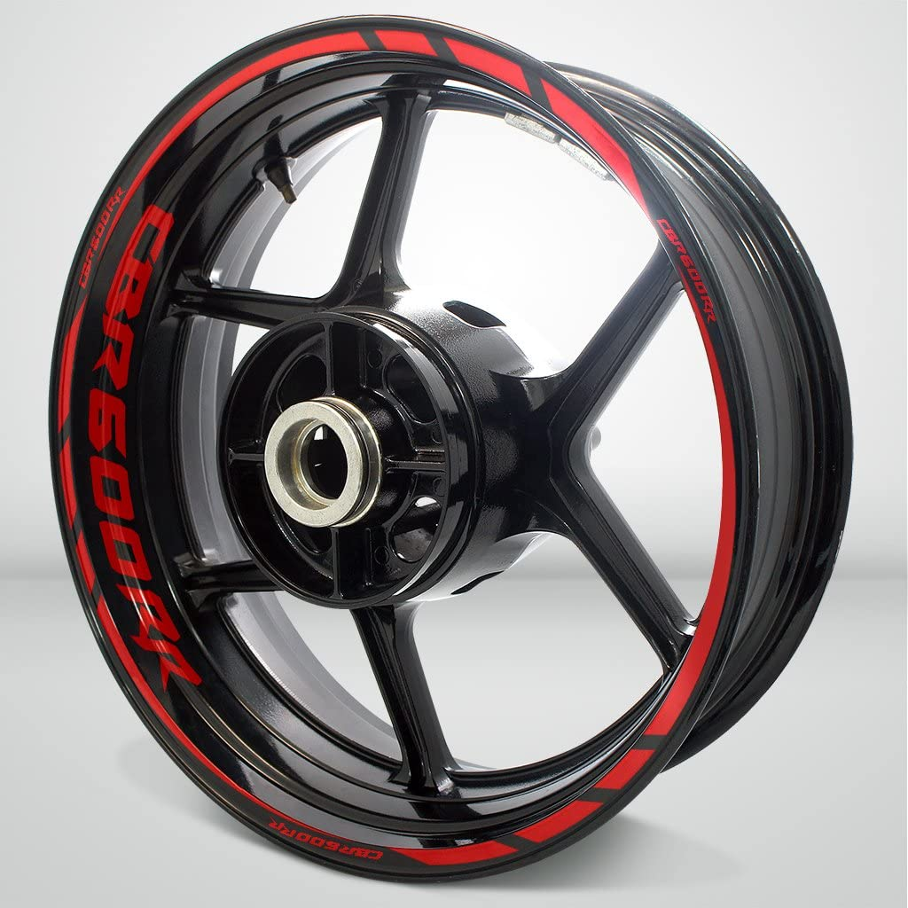 Arashi Red Wheel Rims Sticker Decals Designed for All 17 Motorcycle or Car Wheel Rims CBR1000RR CBR600RR GSXR 600 750 1000 Ninja ZX10R ZX6R YZF R1 R6 959 899 1199 PANIGALE