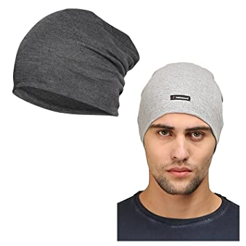 e34ef066a05 FabSeasons Cotton Skull Cap and Beanie - Combo Pack of 2  Amazon.in  Sports
