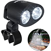 RVZHI Barbecue Grill Light, 360°Rotation for BBQ with 10 Super Bright LED Lights- Heat Resistant,Waterproof,100lm LED BBQ Light for Gas/Charcoal/Electric Grill-Battery Not Include