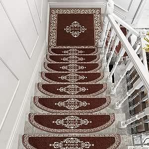 Antideslizantes para escaleras Juego de Alfombras Adhesivas Antideslizantes for Alfombras de escaleras Juego de Alfombras for Escaleras Hogar Moderno Dector Art Step Alfombra Alfombra Abstracta TZXSHO: Amazon.es: Hogar