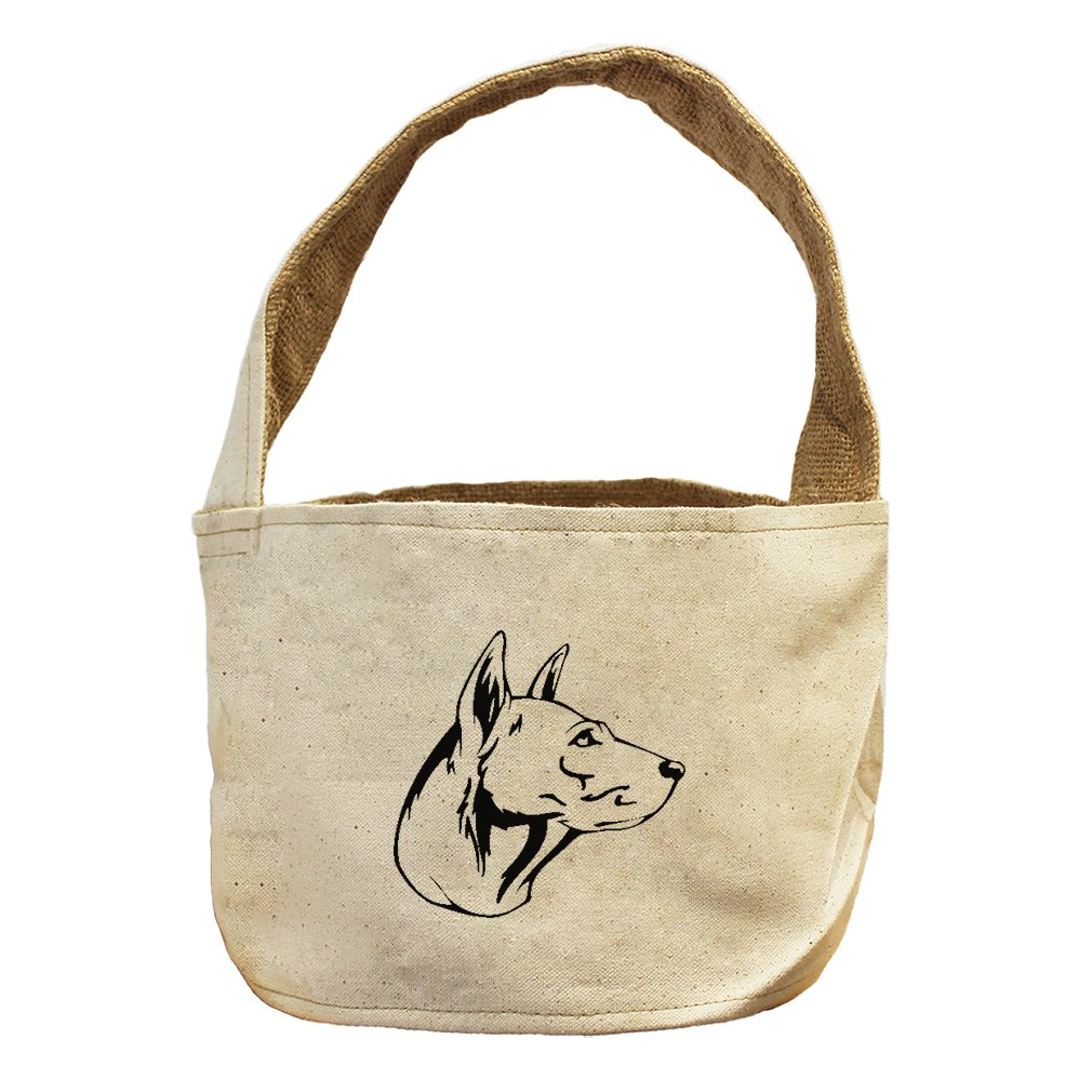 Style in Print Canvas And Burlap Storage Basket Thai Ridgeback Head Black By by Style in Print