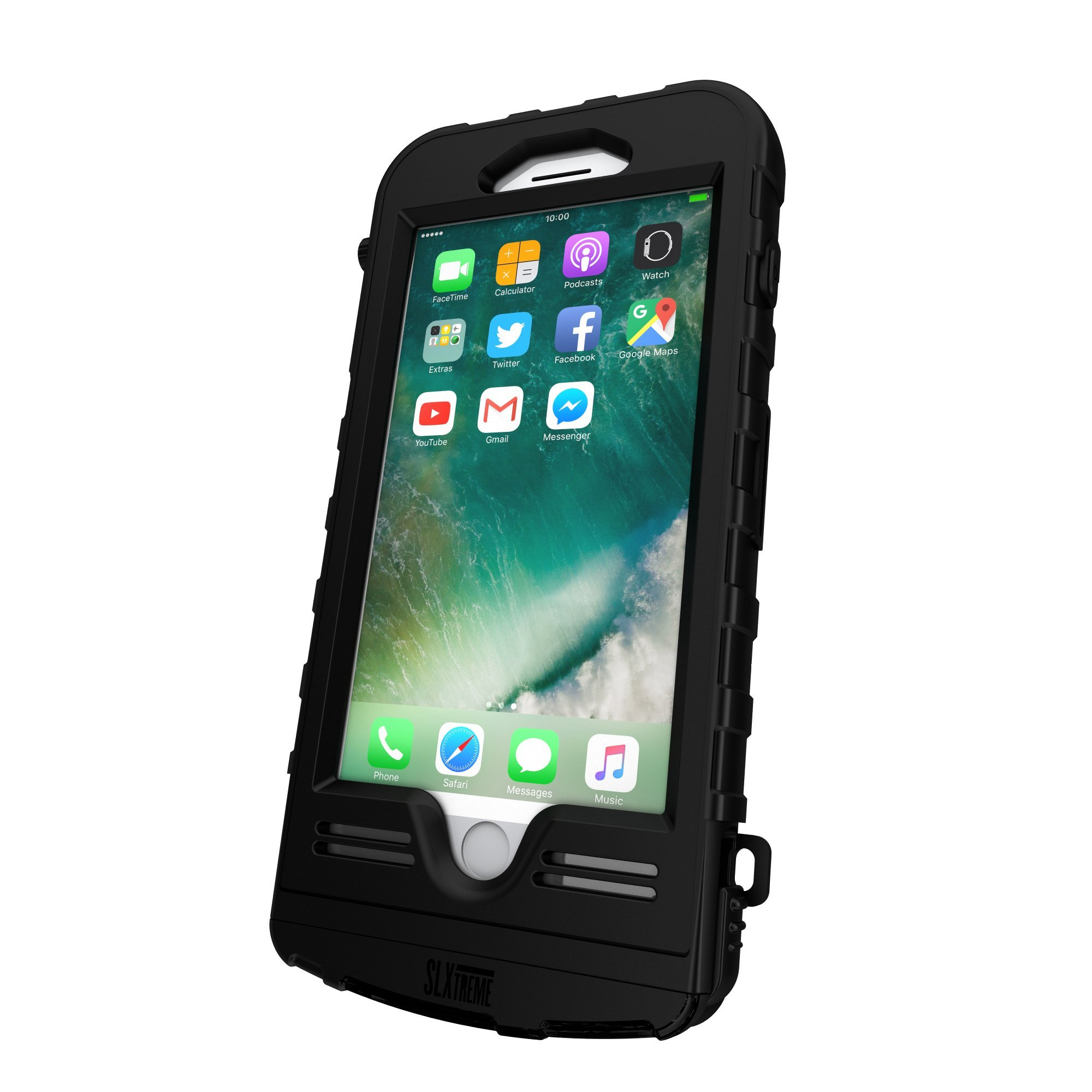 SnowLizard SLXtreme iPhone 8 Plus Case. Solar Powered, Rugged and Waterproof with a built in Battery - Night Black by Snow Lizard Products (Image #4)