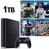 SONY PS4 SLİM 1TB OYUN KONSOLU + 4 ADET PS4 OYUNLARI
