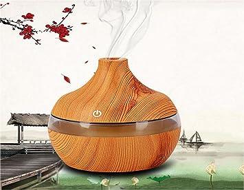 300ml Luftbefeuchter Aroma Diffuser In Natürlicher Holzmaserung Mit 6 Farben  LED Beleuchtung Als Wohnzimmer Deko