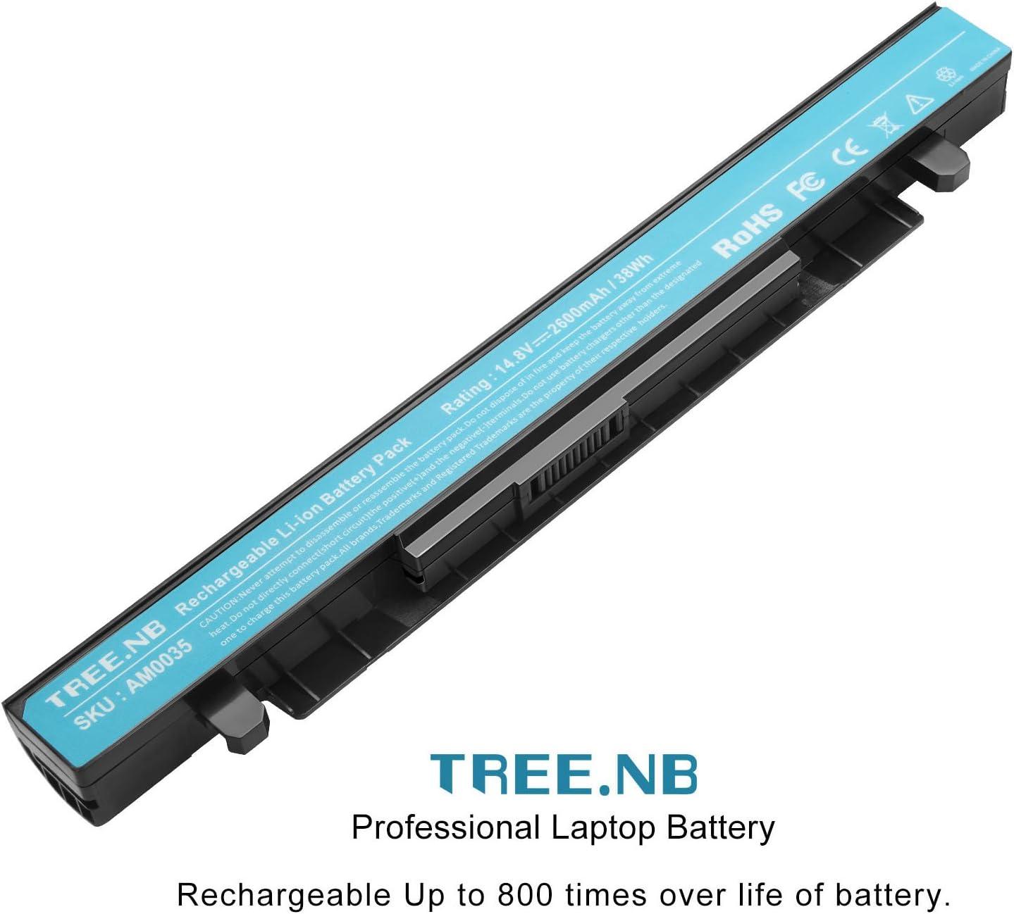 Tree.NB 2600mAh 14.8V A41-X550 A41-X550A Batería del Ordenador ...