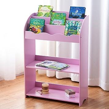 Custpromo 3 Tier Kids Bookshelf Book Magazine Toy Rack Storage