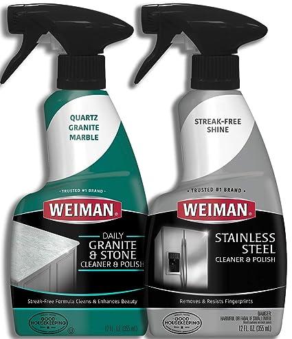 Kit de limpieza de cocina - Weiman polaco y limpiador de ...