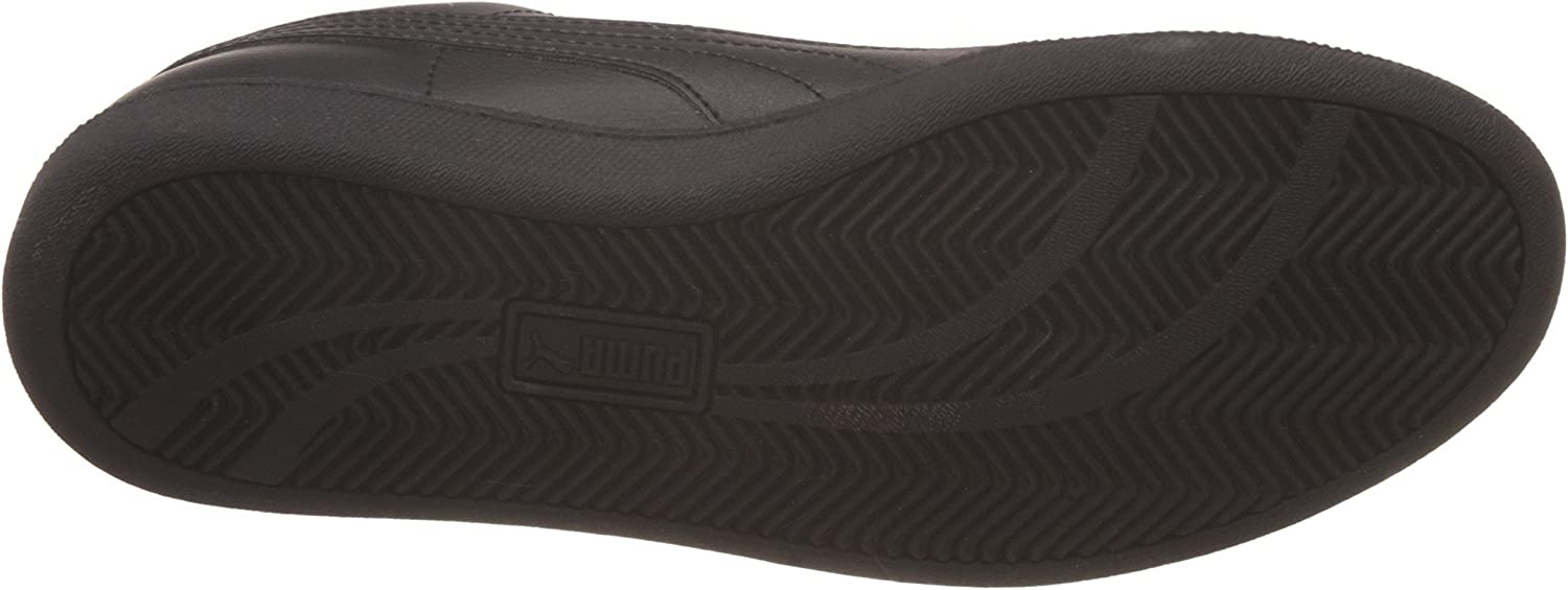 PUMA Smash Leather, Baskets Basses Mixte Noir Black Dark Shadow 04