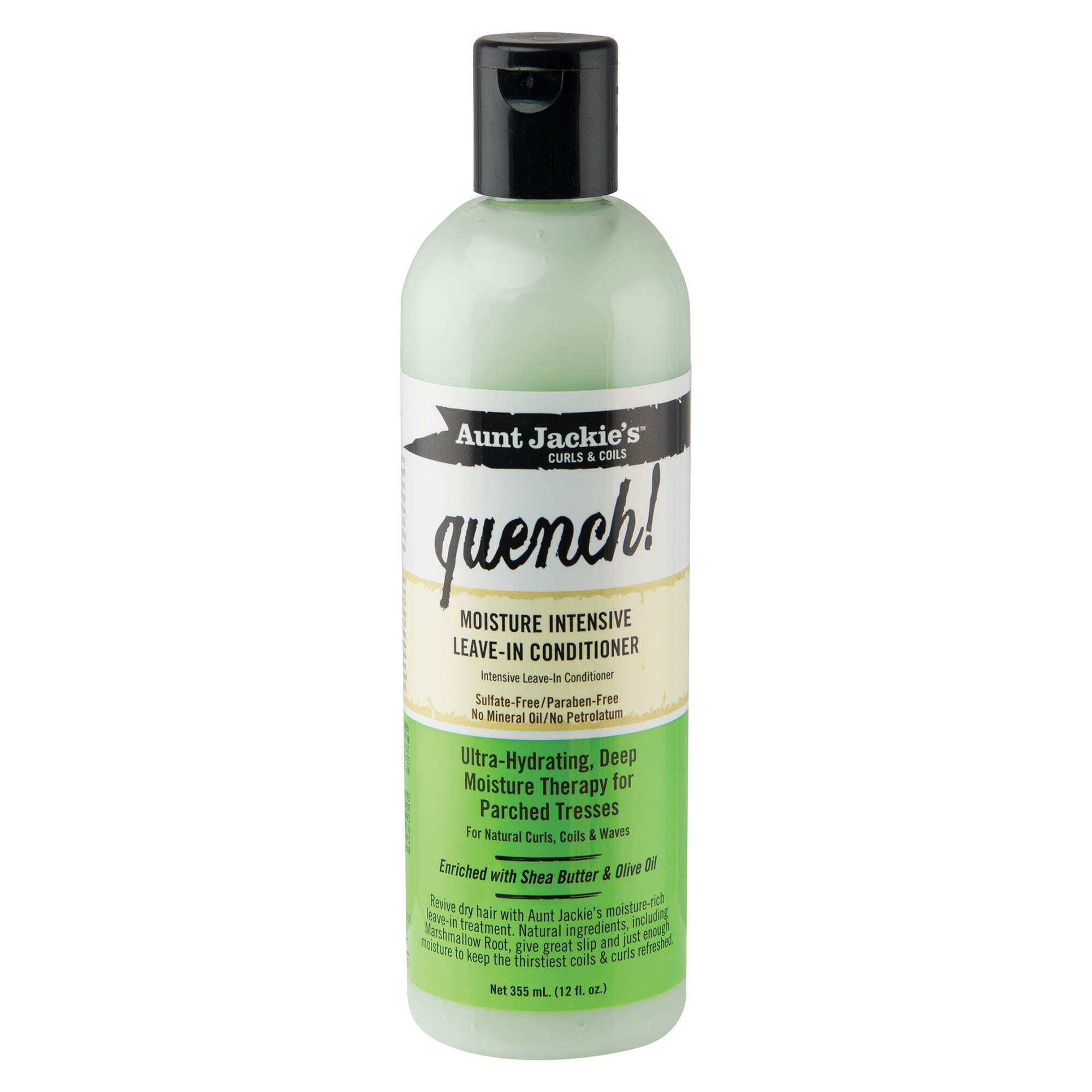 Aunt Jackie's Quench Moisture Intensive Leave-in Conditioner, Shea butter & Olive Oil, 12 Fl.Oz