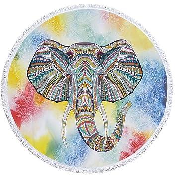 Ronda Borla Playa Toalla Elefante Print Picnic Manta Yoga ...