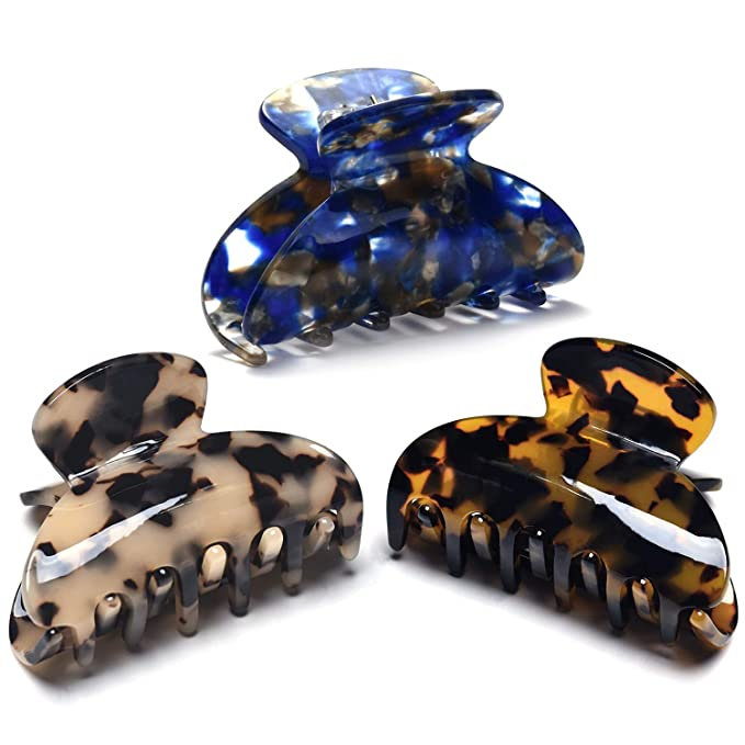 Tortoise shell hair clip Monogram Perfect gift for women Top Quality Luxury Style Pin Cellulose Acetate Hair Clip Vintage clip