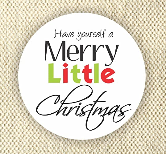 Amazon have yourself a merry little christmas labels happy have yourself a merry little christmas labels happy holidays favor stickers merry christmas stickers solutioingenieria Images
