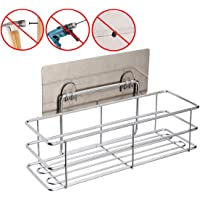 BNY Bathroom Shelf (Adhesive Shelf) Kitchen Organizer Rack Shower Caddy for Shampoo Holder, Wall Mounted, No Drilling, SUS304 Stainless Steel