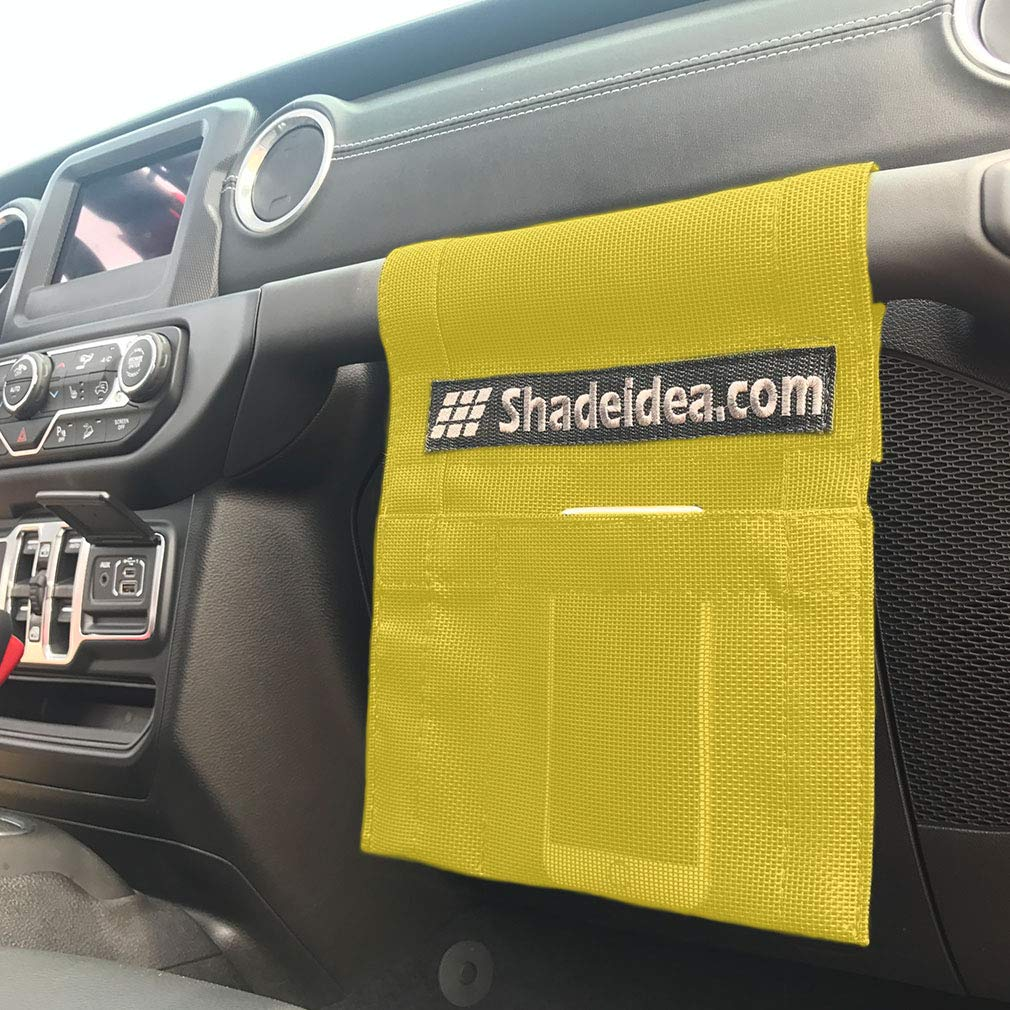 Shadeidea Jeep Wrangler Sun Shade JL Unlimited 4 Door Front and Rear 2 piece-Gray Mesh Screen Sunshade JLU Top Cover UV Blocker with Grab Bag-One time Install 10 years Warranty