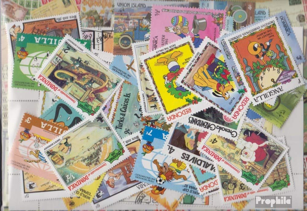 Motives 300 different Walt Disn. stamps (Stamps for collectors) comics