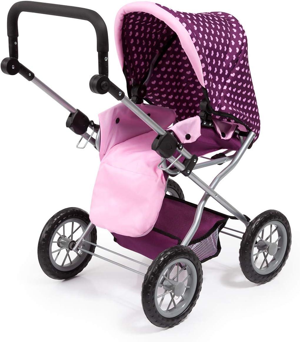 Bayer Design 15037AA Kombi Puppenwagen Combi Grande mit herausnehmbarer Tragetasche und Umh/ängetasche h/öhenverstellbar zusammenklappbar