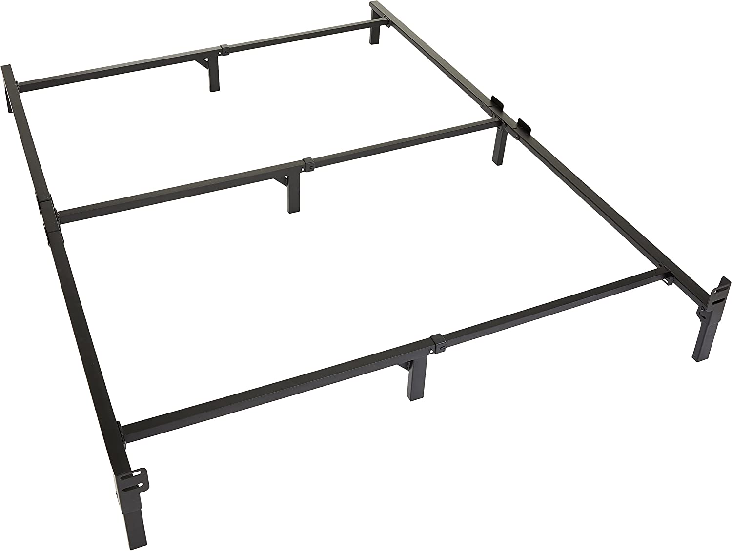 Amazon Basics 9-Leg Support Metal Bed Frame – Strong Support for Box Spring and Mattress Set – Queen Size Bed
