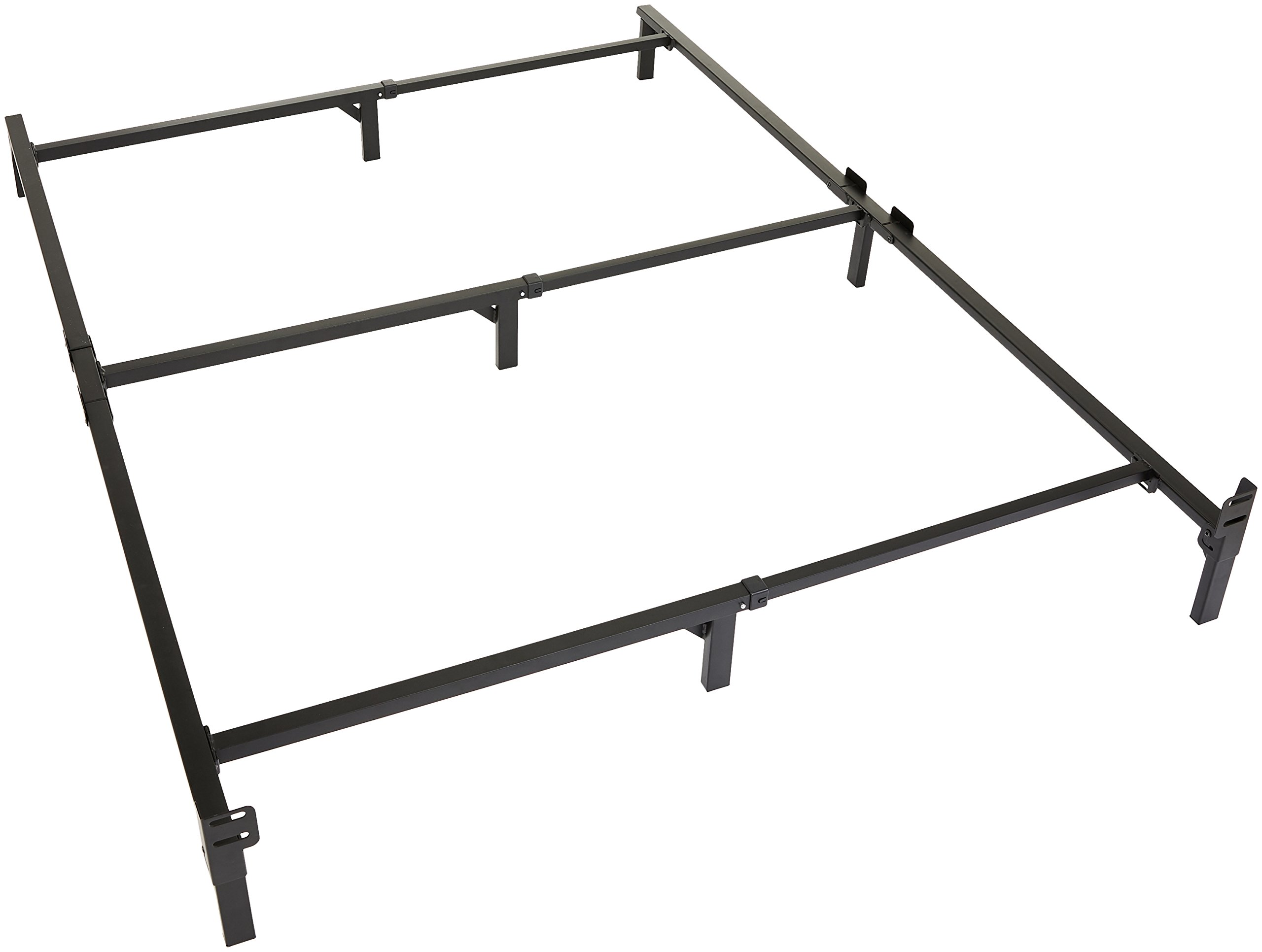 Amazon Basics 9-Leg Support Metal Bed Frame - Strong Support for Box Spring and Mattress Set - Queen Size Bed by AmazonBasics