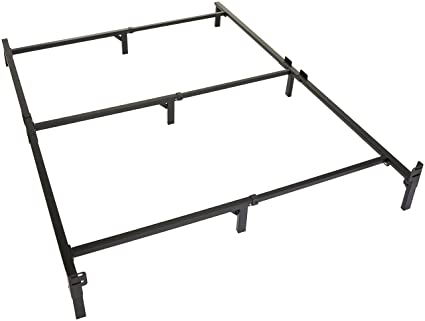 huge selection of e4c78 561d9 Amazon Basics 9-Leg Support Metal Bed Frame - Strong Support for Box Spring  and Mattress Set - Full Size Bed