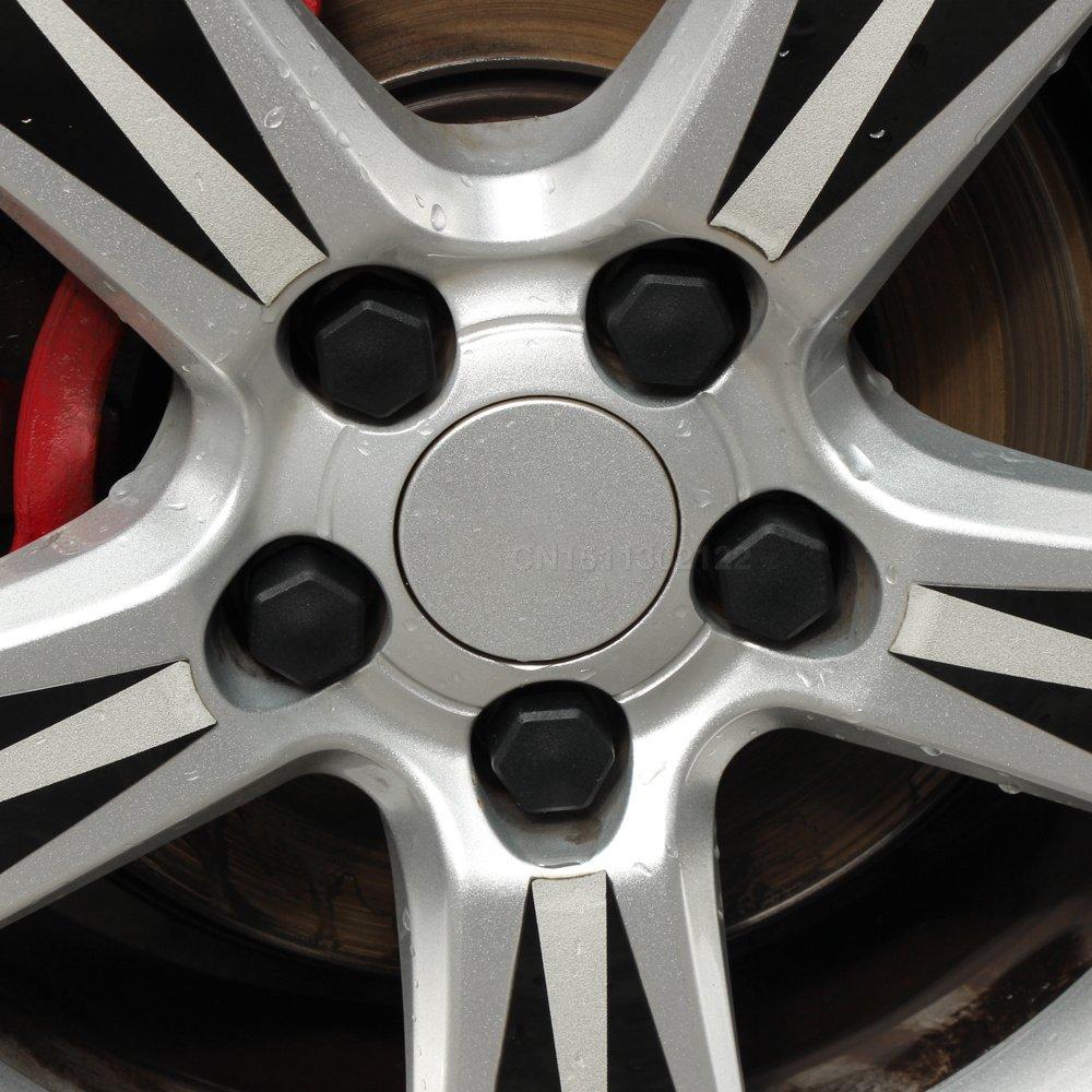 Isremi Automotive Coque en silicone de roue Vis /à capuchon de protection pour Opel Mokka Antara Astra G J H Insignia Vectra Corsa Zafira TM