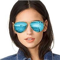 SODQW Gafas de Sol Polarizadas Mujer Espejo Marca Clásico Metal Marco 100% UVA/UVB…
