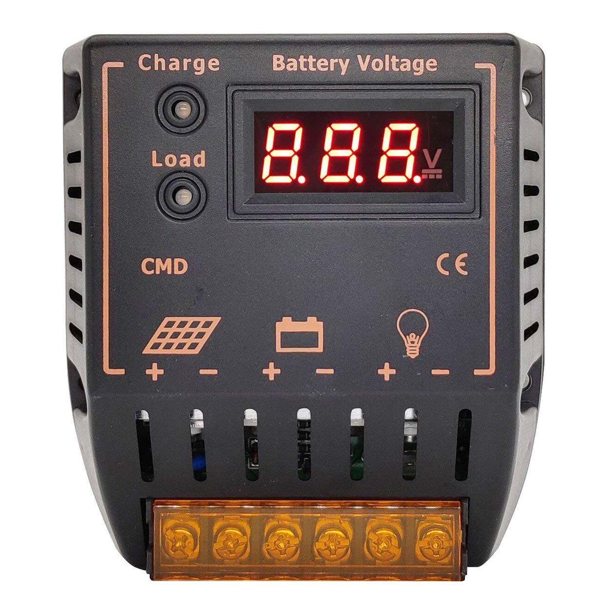 Lorenlli Dauerhafter Solarladeregler 12V 24V Solarladeregler USB 20A Solarregler-Spannungsregler CMD-2420