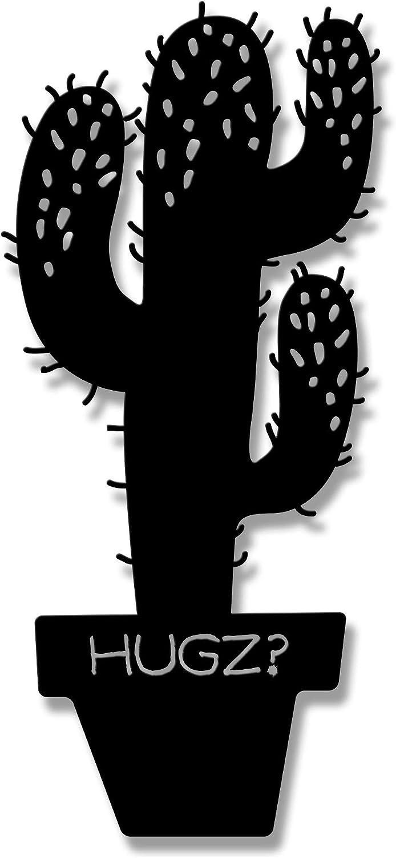 Ada Home Décor Cactus Metal Wall Art 8.86'' x 19.29'' Black