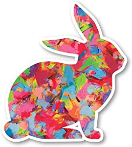 "Bunny Sticker Watercolor Paint Stickers - Laptop Stickers - 2.5"" Vinyl Decal - Laptop, Phone, Tablet Vinyl Decal Sticker S1230"