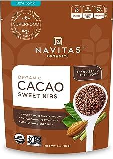 product image for Navitas Organics Sweetened Cacao Nibs, 4oz. Bag, 28 Servings - Organic, Non-GMO, Fair Trade, Gluten-Free