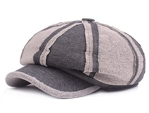 b9fc34179a12 Women Cotton Newsboy Cabbie Peaked Beret Cap Men Warm Baker Boy Visor  Artist Hat Dark Grey: Amazon.co.uk: Clothing