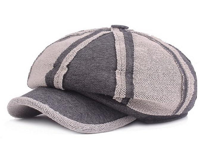 a72567d6 Women Cotton Newsboy Cabbie Peaked Beret Cap Men Warm Baker Boy Visor  Artist Hat Dark Grey