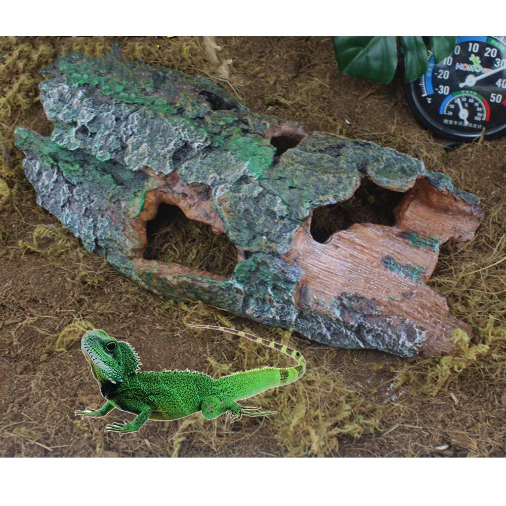 perfk Tronco Árbol Corteza Acuario Reptil Complimentos Pecera Acuario Plantado Fácilmente Cómodo: Amazon.es: Productos para mascotas