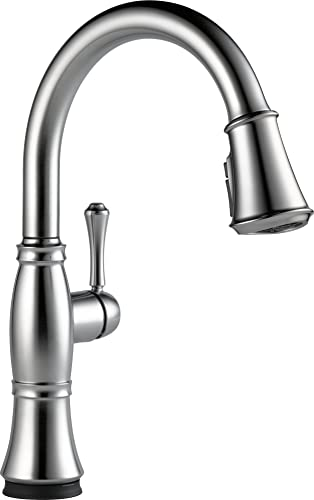 Delta Faucet Cassidy Single-Handle Touch Kitchen Sink Faucet with Pull Down Sprayer, Touch2O and ShieldSpray Technology, Magnetic Docking Spray Head, Stainless 9197T-AR-DST