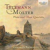 Telemann, Molter : Quatuors pour flûte et hautbois. Camerata Bachiensis, De Franceschi.