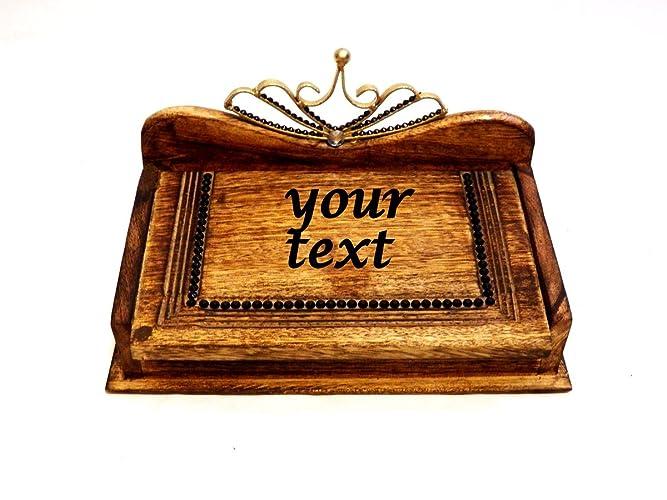 Caja de Madera con Texto, Caja de madera para Joyería, Caja de Boda,