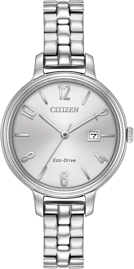 Citizen Women's 'Silhouette' Quartz Stainless Steel Casual Watch, Color:Silver-Toned (Model: EW2440-53A)