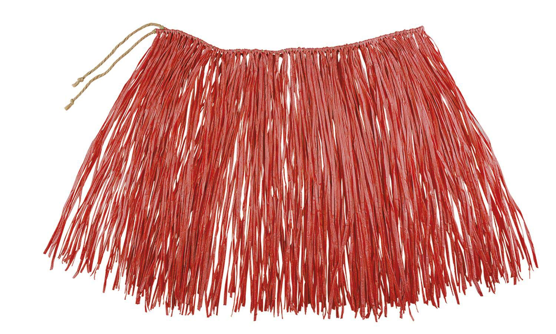 Boland - Rafia Falda Hawaii, Color Rojo, 52232: Amazon.es ...