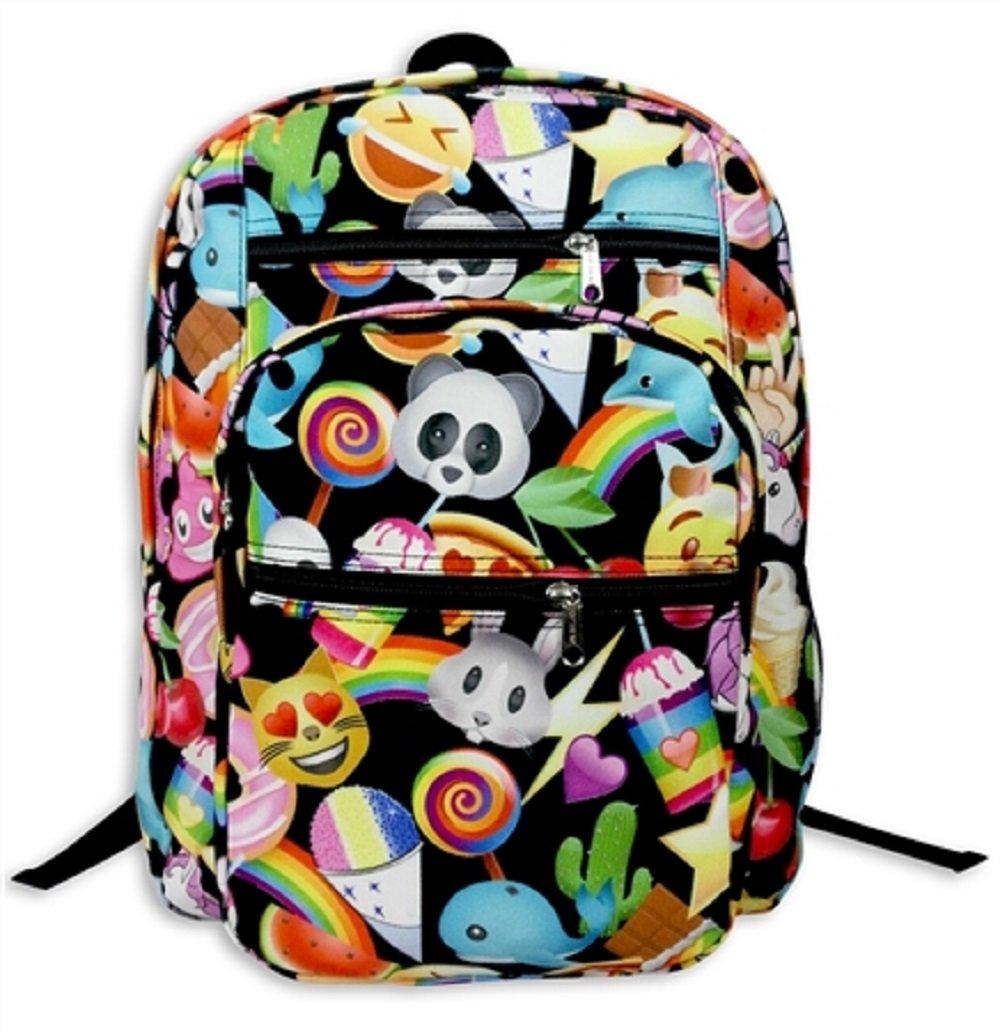 Black Top Trenz 5 Zipper Backpack Back to School