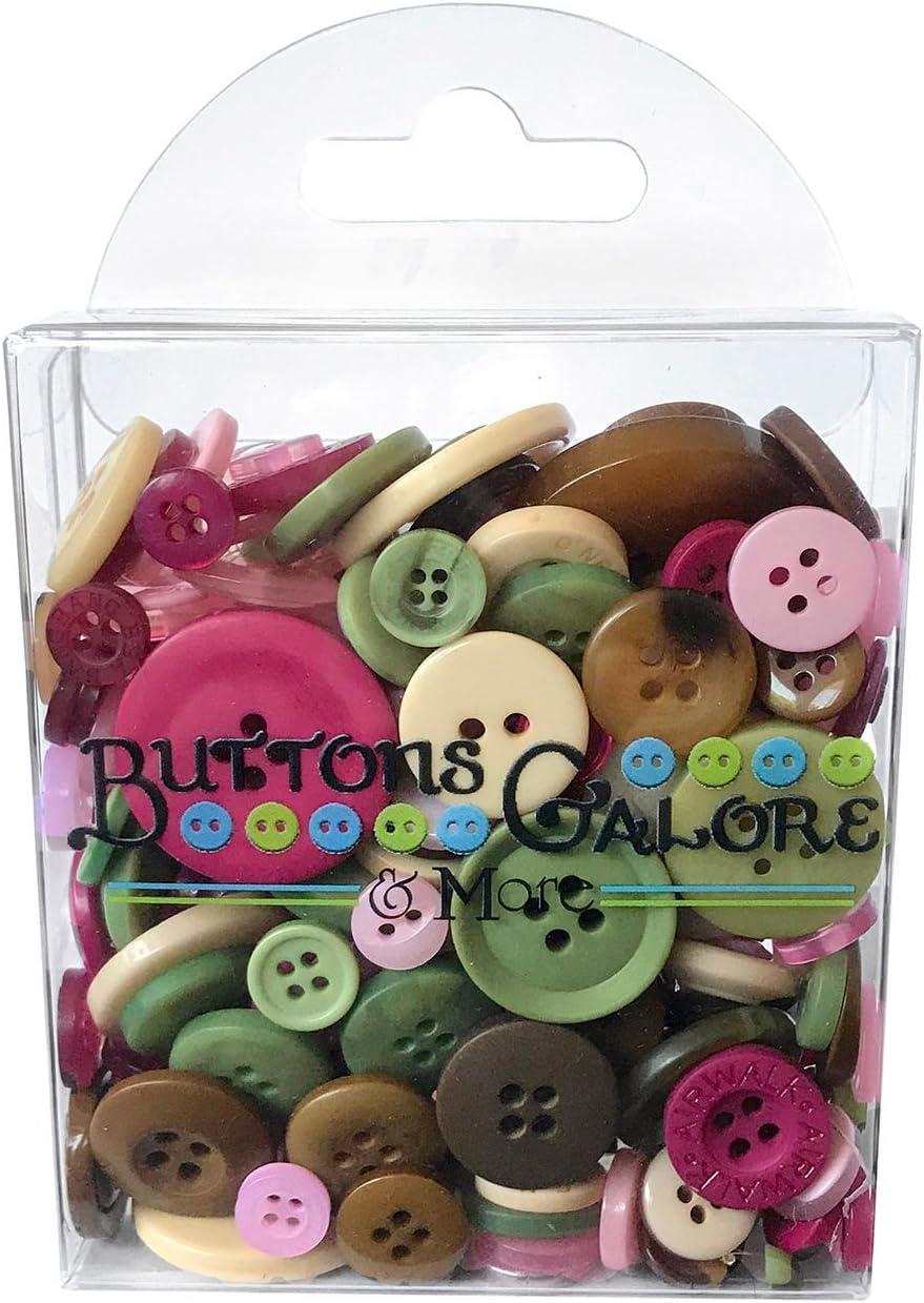 Buttons Galore Rose Garden Craft & Sewing Buttons - 150+ Buttons