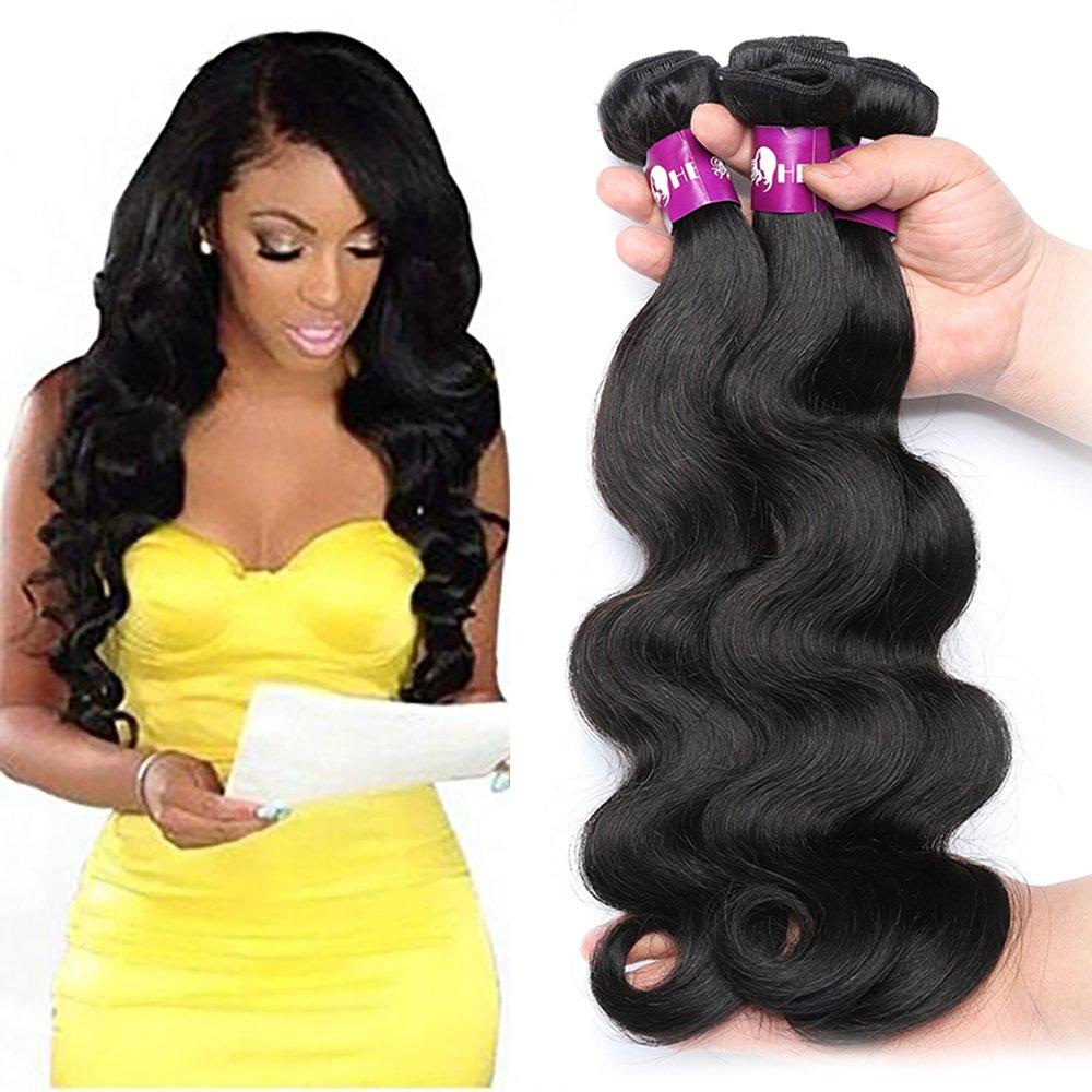 Amazon Hebe Brazilian Virgin Hair Body Wave 3 Bundles 10 12 14