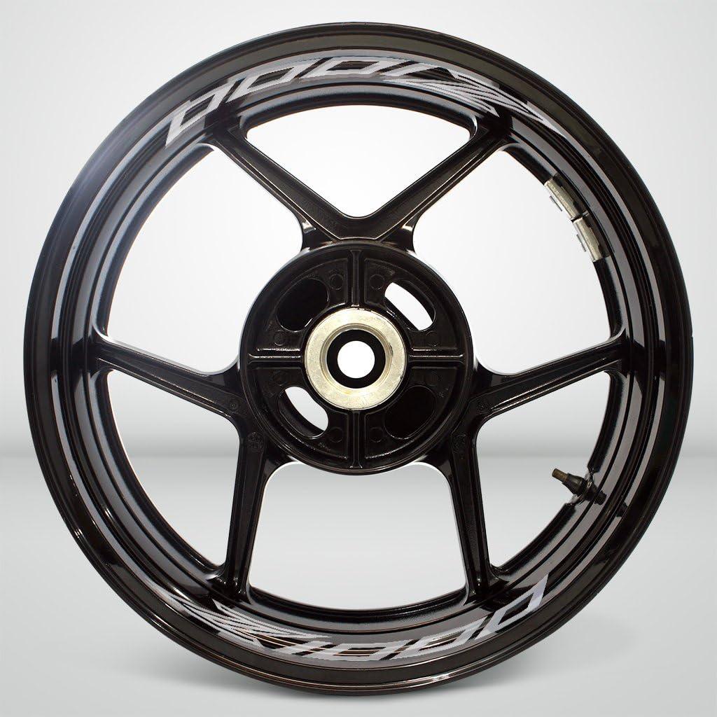 Gloss White Motorcycle Inner Rim Tape Sticker Decal for Kawasaki Z1000 2014