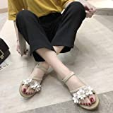 Thenxin Women's Summer Boho Flower Weave Flat